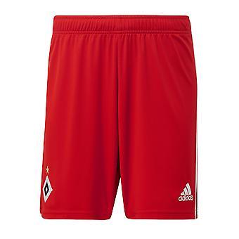 2019-2020 Hamburg Adidas Home Shorts (Red)
