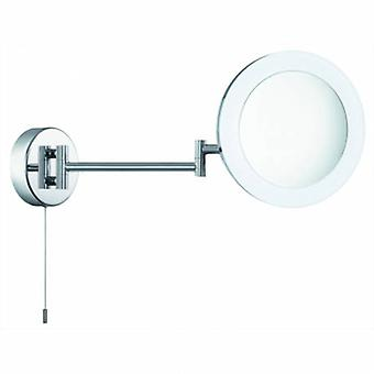 Led Swing Arm Magnifying Bathroom Mirror Chrome Ip44