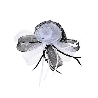 Intrigue Womens/dames Triple Floral Fascinator clip