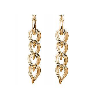 Boucles d'oreilles Gemshine Chaînes Cerceaux en argent ou de haute qualité Gold Plated Made in Spain