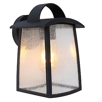 Lutec Kelsey grote buiten muur lantaarn in zwart