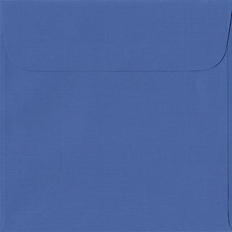 Königsblau Peel/Dichtung 160mm quadratische farbige blaue Umschläge. 100gsm Schweizer Premium FSC-Papier. 160 mm x 160 mm. Wallet-Stil-Umschlag.