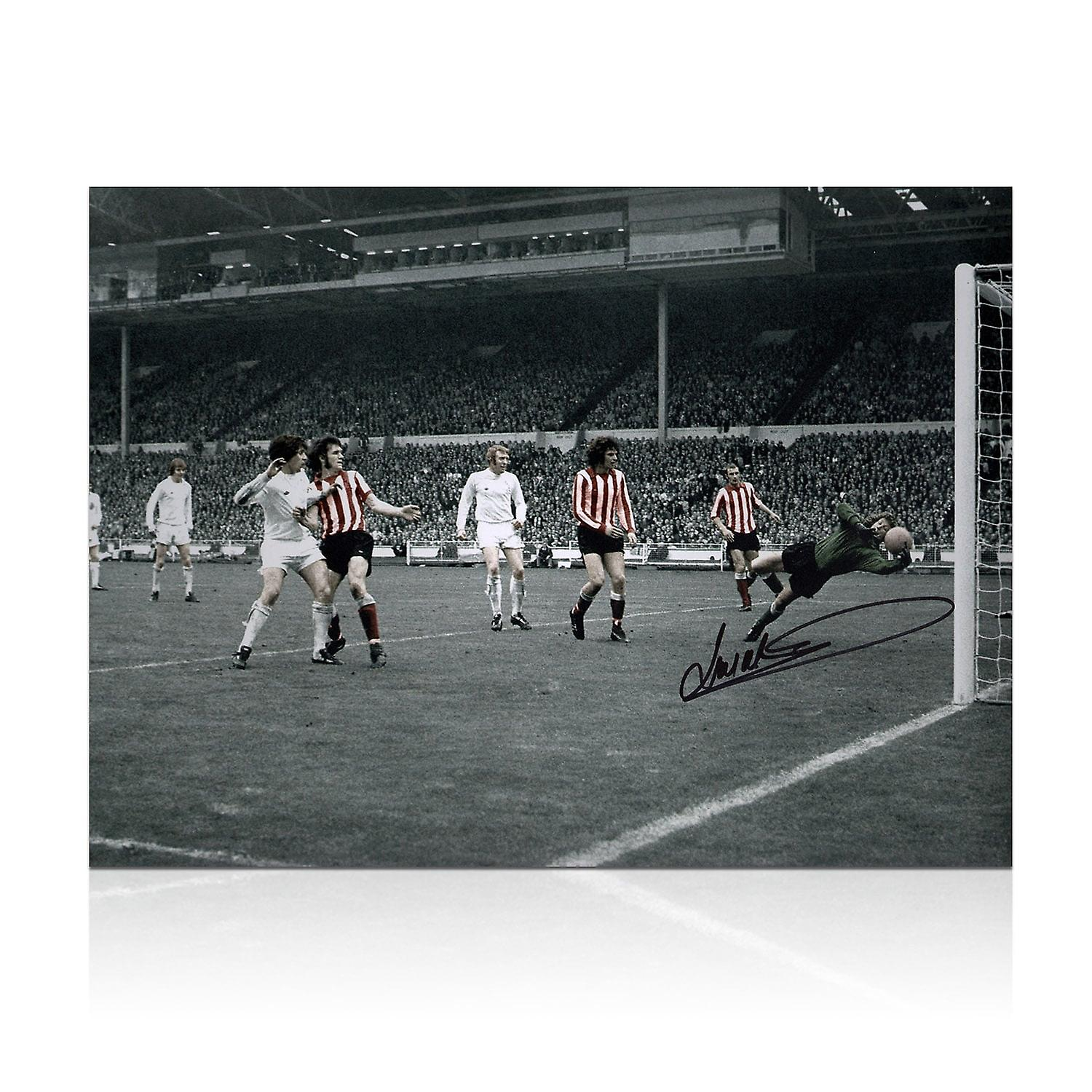 Jim Montgomery Signed Sunderland Photo: 1973 FA Cup Final Wonder Save