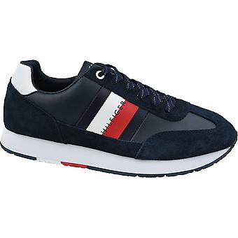Tommy Hilfiger Corporate Leather Flag Runner FM0FM02380-403 Mens sneakers