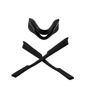 Replacement Rubber Kit for Oakley M2 Frame Earsocks Nose Pad Piece Black Black Insert Accessories by SeekOptics