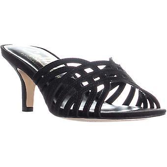 Callisto Roza Slip On Heeled Sandals, Black, 8 US