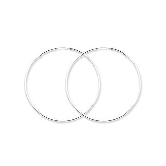 925 Sterling Silver Hinged Polished Hollow tube 1.3mm Hoop Earrings Bijoux Cadeaux pour les femmes