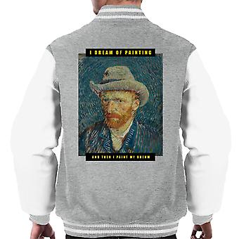 A.P.O.H Vincent van Gogh I Dream Of Painting Quote Men's Varsity Jacket