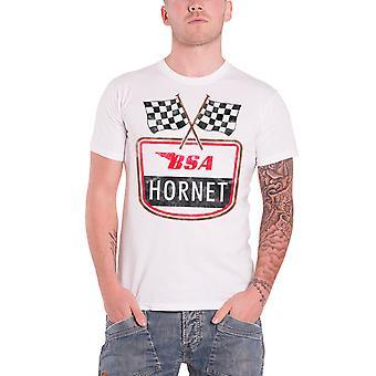 BSA T Shirt Hornet British Motorbike vintage new Official Mens White