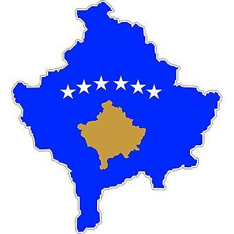 Autocollant Sticker Adhesif Voiture Vinyle Drapeau Carte Kosovo