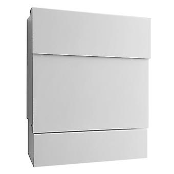 RADIUS white Letterman 5 mailbox with newspaper role - 561 E