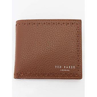 Ted Baker Cobler Bifold Münze Brieftasche - Tan