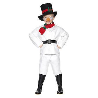 Garçons Bonhomme de neige Costume de robe de fantaisie de Noel avec le nez de carotte