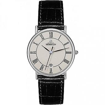 Michel Herbelin 12443-S08 Men's Sonates Leather Strap Wristwatch
