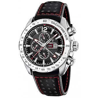 Festina F20440-4 Mężczyźni&s Czarny pasek Chronograf Zegarek na rękę