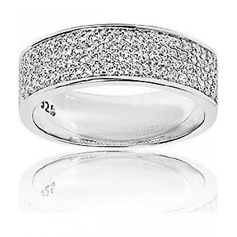Sif Jakobs Ring Felline Piccolo Silver Collection SJ-R11004-CZ - Size 54