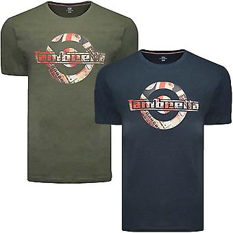 Lambretta Mens Graphic Target Short Sleeve Crew Neck Tee T Shirt Top