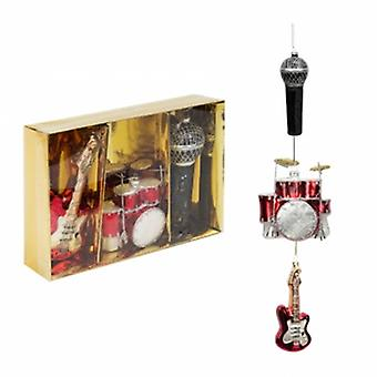 Widdop Bingham Set of 3 Music Themed Baubles | Handpicked Gifts
