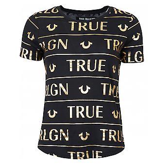 True Religion All Over Foil Logo T-shirt