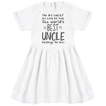 I'm As Lucky As Can Be Best Uncle belongs to me! Baby Dress