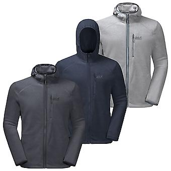 Jack Wolfskin Mens Skywind Hooded Durable Breathable Lightweight Sweater
