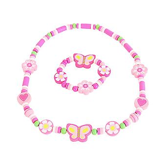 Flower Necklace & Bracelet
