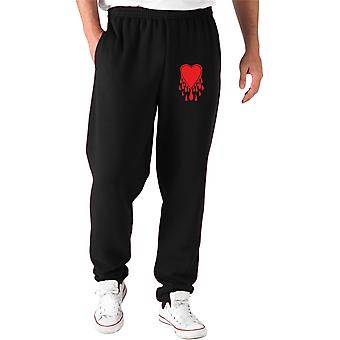 Pantaloni tuta nero fun1740 heart flames