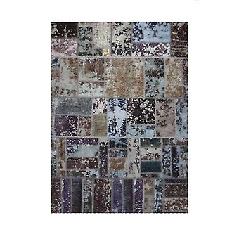 Hand-knotted Persian Patchwork mat Wool/Yarn Multicolored 167x232cm