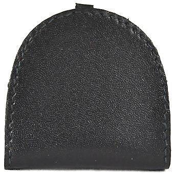 Real Leather Semi Round Money Tray Purse (Mid Brown)