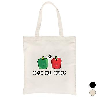 Jingle Bell Peppers Cool Canvas Bag Christmas Gift