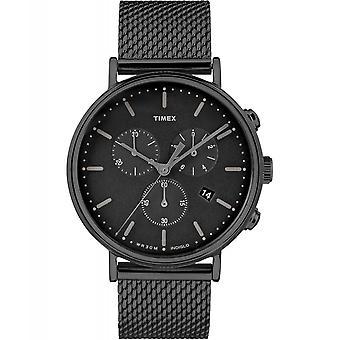 Timex TW2R27300 Fairfield chronograaf mesh horloge zwart