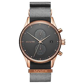 MVMT D-MV01-RGGR2 Watch - Chronograph and Dateur Steel Dor Pink Dial Grey Bracelet Nylon Grey Men
