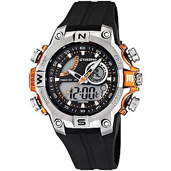 Calypso K5586-4 watch - multifunction Silicone black man