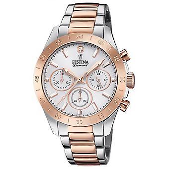 Titta på Festina pojkvän Collection F20398-1 - klocka kronograf tvåfärgad rosa kvinna