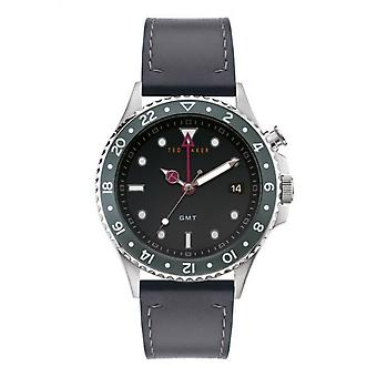 Ted Baker BKPOLF903 Men's Oldfash Grey Strap GMT Wristwatch
