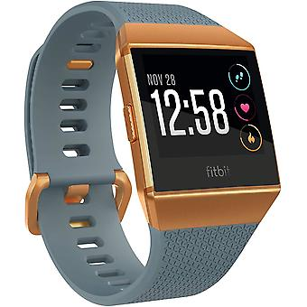 Fitbit Ionic Health & Fitness Smartwatch (GPS) with Heart Rate, Swim Tracking & Music - Slate Blue/Burnt Orange