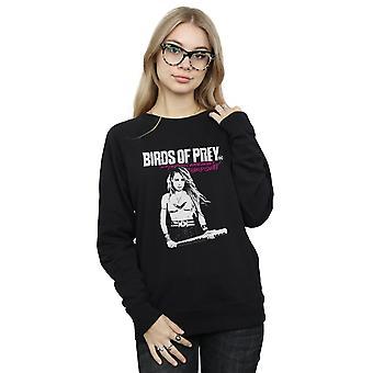 DC Comics Women's Birds Of Prey Black Canary Bat Sweatshirt