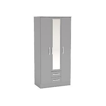 LYNX 3 DOOR 2 DRAWER WITH MIRROR GREY