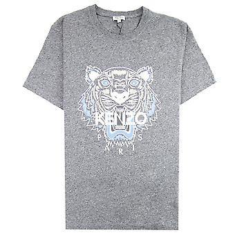 Kenzo Tiger T-shirt Gris/Sky Blue