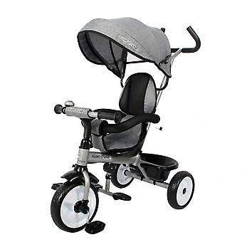RideonToys4u Easy Steer Pedal Buggy Trike Grey Ages 18 Months+