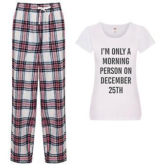 I'm Vain Aamu henkilö 25 joulukuu Ladies Tartaani Housut Pyjamat