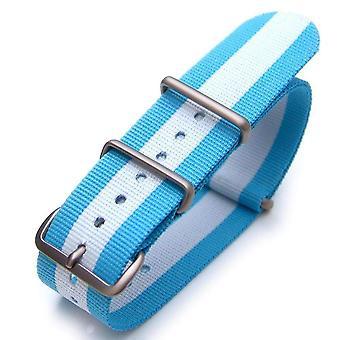 Strapcode n.a.t.o حزام ووتش 20mm أو 22mm حلف شمال الأطلسي الأرجنتين طبعة خاصة النايلون ووتش فرشاة حزام (الأرجنتين واليونان واسكتلندا)