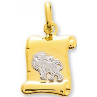 M�daille lion or bicolore