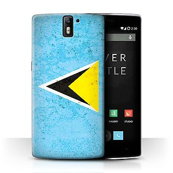 STUFF4 Case/Cover for OnePlus One/Saint Lucia/Lucian/Americas Flag