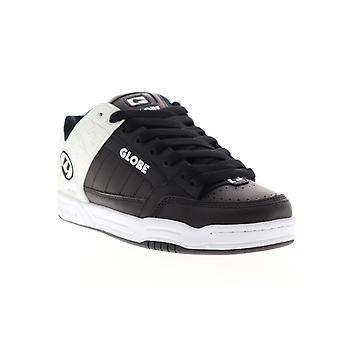 Globe Tilt  Mens Black Leather Lace Up Athletic Skate Shoes