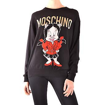 Moschino Ezbc015112 Women's Black Wool Sweater