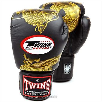 Twins special black-gold dragon boxing gloves