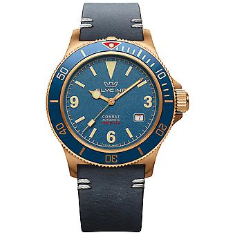 Combat Vintage Analog Men's Automatic Watch with Cowskin Bracelet GL0266