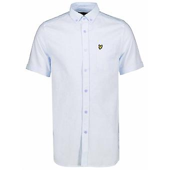 Lyle & Scott  Lyle & Scott Riviera Blue Short-Sleeve Shirt