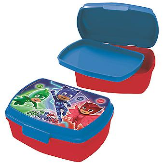 PJ MASKS Children's bread tin with plastic insert red blue